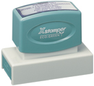 "The Xstamper N18 is a large custom pre ink stamp ideally used for large addresses, messages, or signatures. Measurements are 7/8"" by 2-3/4."""