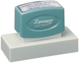"The Xstamper N24 is a custom pre ink stamp ideal for large messages. Measurements are 1-3/16"" by 3-1/8""."