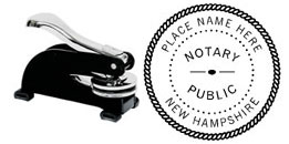 E13NH - E13 Desk Model New Hampshire Notary Embosser