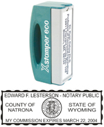 N42WY - N42 Wyoming Pocket Notary Stamp
