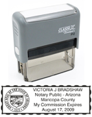 P12AZ - P12 Self-Inking Stamp Arizona Notary