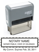 P12 Self-Inking Stamp Colorado Notary
