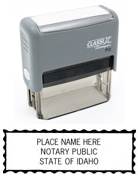 P12ID - P12 Self-Inking Stamp Idaho Notary