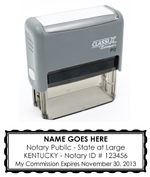P12KY - P12 Self-Inking Stamp Kentucky Notary
