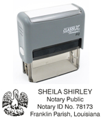 P12 Self-Inking Stamp Louisiana Notary