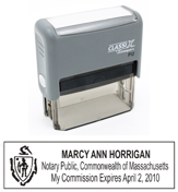 P12MA - P12 Self-Inking Stamp Massachusetts Notary