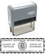 P12WY - P12 Self-Inking Stamp Wyoming Notary