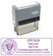 P13 Self-Inking Stamp Utah Notary - Purple Ink